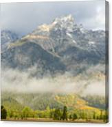 Storm On Grand Teton Canvas Print