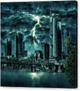 Storm Over Frankfurt Canvas Print