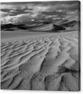 Storm Over Sand Dunes Canvas Print