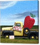 Strawberry Truck Canvas Print