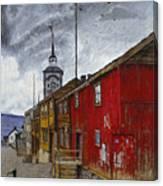 Street In Roros Canvas Print