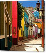 Street Of Color Guanajuato 2 Canvas Print