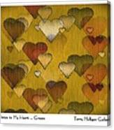 Striae To My Heart ... Greens Canvas Print