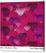 Striae To My Heart ... Pinks Canvas Print