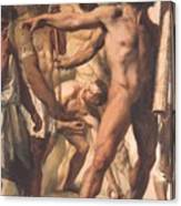 Study For The Martyrdom Of St Symphorien 1834  Canvas Print