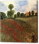 Study Of Monet Canvas Print