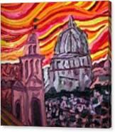 Sun At Night Siennas Delight Canvas Print