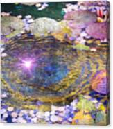 Sunglint On Autumn Lily Pond II Canvas Print