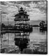 Sunrise At Drum Point Lighthouse Canvas Print
