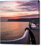 Sunrise At Saltburn Pier Canvas Print