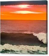 Sunrise Kissing Surf Canvas Print