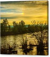 Sunrise On The Payette River Canvas Print