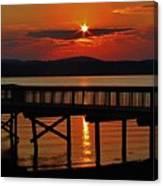 Sunrise Over The Pier Canvas Print