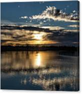 Sunrise Reflections On The Great Plains Canvas Print