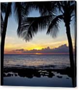 Sunset - Oahu West Shore Canvas Print