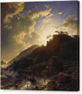 Sunset After A Storm On The Coast Of Sicily Canvas Print