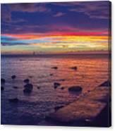 Sunset At Mauritius Canvas Print