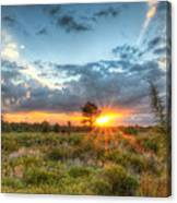 Sunset At The Field Of Dreams Canvas Print