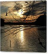 Sunset At The Lake Canvas Print