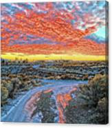 Sunset In El Prado Canvas Print