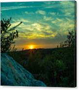 Sunset In Hudson Nh Canvas Print