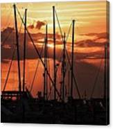 Sunset In Masts, South Fl. Canvas Print