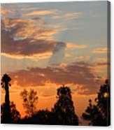 Sunset Moreno Valley Ca Canvas Print