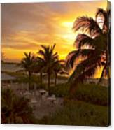 Sunset On Grace Bay Canvas Print