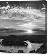Sunset On The Niangua Canvas Print
