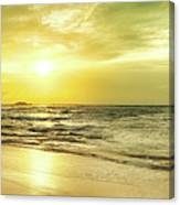 Sunset Over The Sea. Panorama Canvas Print