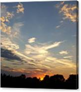 Sunset Sky Over Ohio Canvas Print
