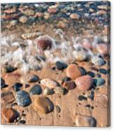 Surf And Stones Canvas Print