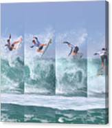 Surfing Sequence Canvas Print