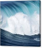 Surfing The Infamous Jaws Canvas Print