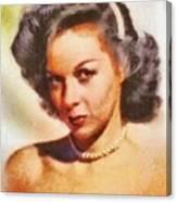 Susan Hayward, Vintage Hollywood Actress Canvas Print