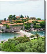 Sveti Stefan, Montenegro Canvas Print