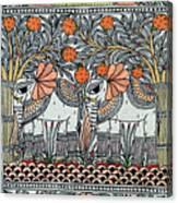 Swan Elephant Canvas Print