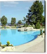 Swimming Pool Summer Vacation Scene Canvas Print