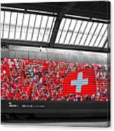 Swiss Train To Zurich Canvas Print