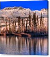 Talbot Lake Afternoon Panorama Canvas Print