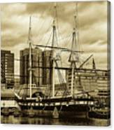 Tall Ship In Baltimore Harbor Canvas Print