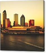 Tampa At Sunset Canvas Print