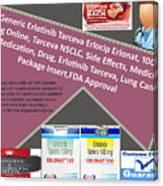 Tarceva Nsclc, Side Effects, Medicine, Cost, Medication, Drug Canvas Print