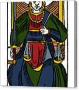 Tarot Card Justice Canvas Print