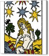 Tarot Card The Stars Canvas Print