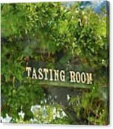 Tasting Room Sign Canvas Print