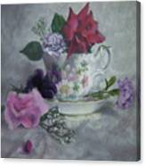 Teacup Rose Canvas Print