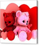 Teddy Bearz Valentine Canvas Print