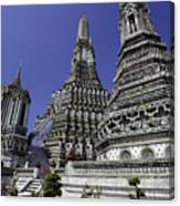 Temple Detail In Bangkok Thialand Canvas Print