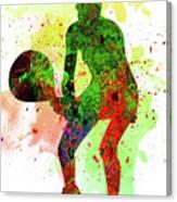Tennis Player Canvas Print